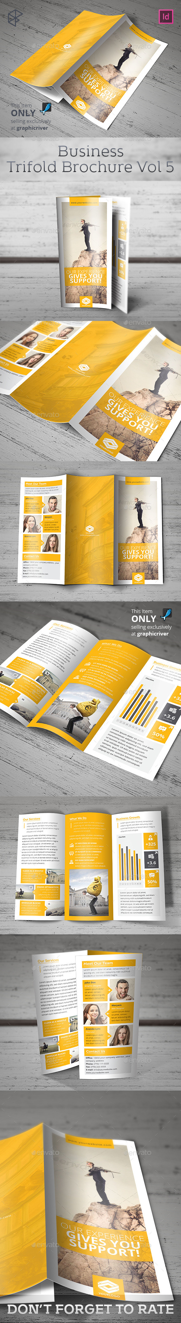 Business Trifold Brochure Vol 5 - Corporate Brochures