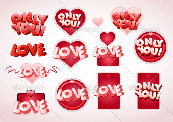 Love Tag Set - Valentines Seasons/Holidays