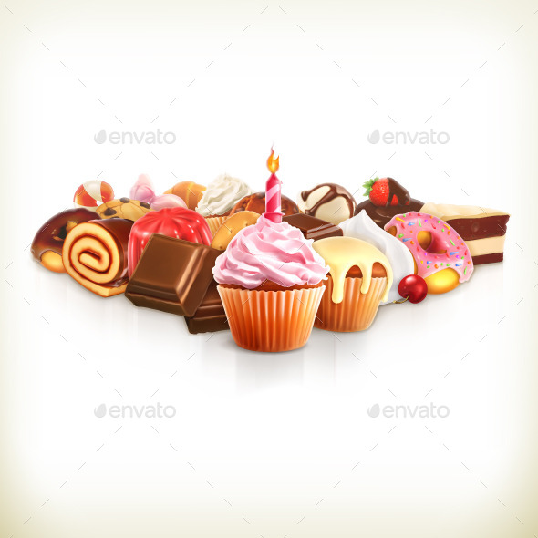 Confectionery Vector Illustration - Vectors