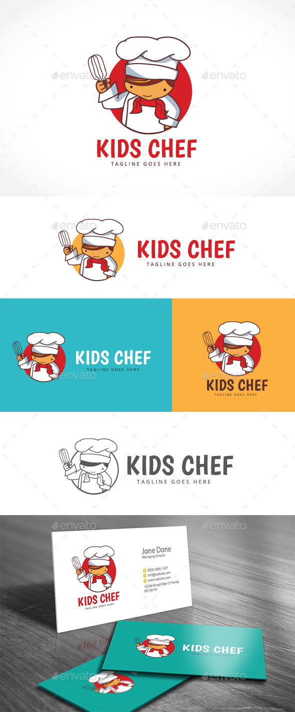 Kids Chef - Food Logo Templates