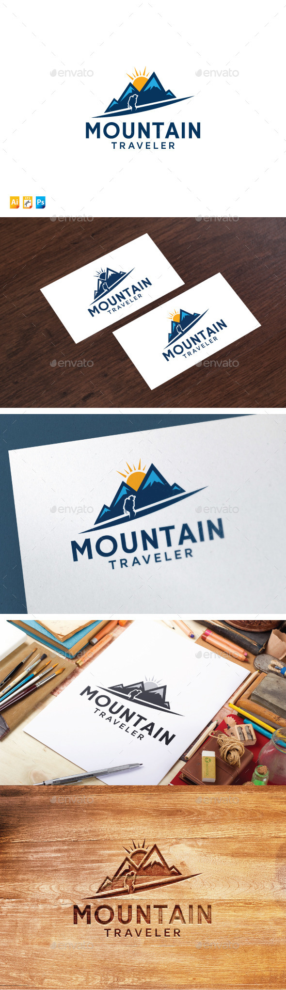 Mountain Traveler - Nature Logo Templates
