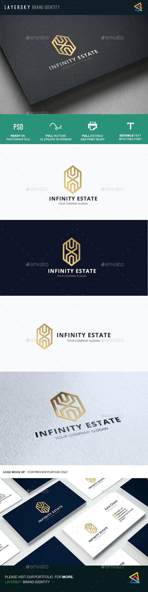 Infinity Real Estate - Buildings Logo Templates