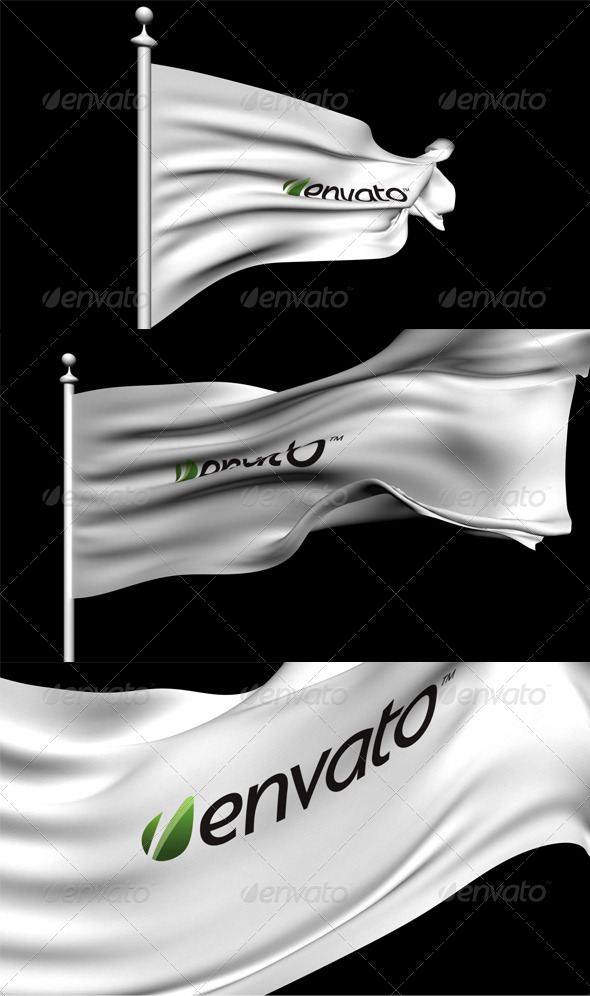 3D Animated Flag - 3DOcean Item for Sale