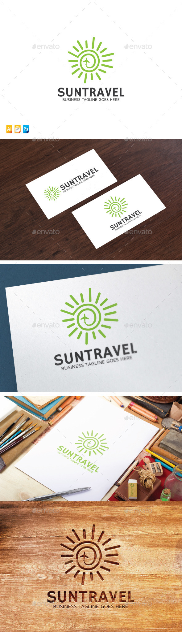 Sun Travel - Objects Logo Templates