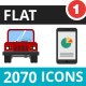 2070 Vector Colorful Flat Icons - GraphicRiver Item for Sale