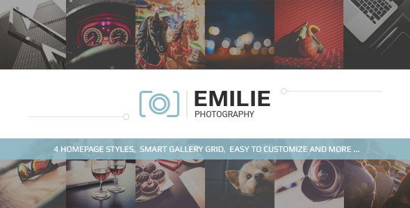 Emilie Photography Portfolio WordPress Theme