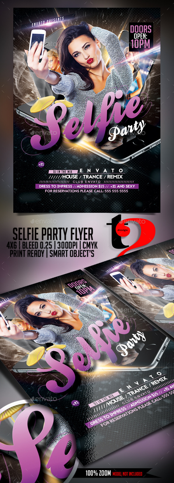 Selfie Party Flyer Template