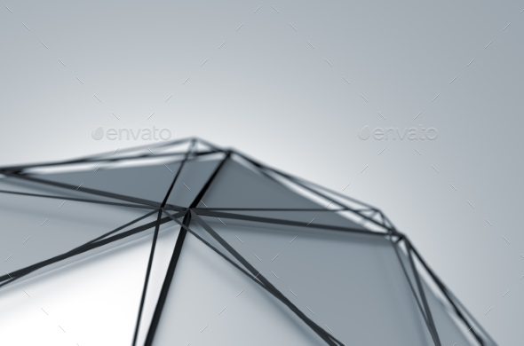 Abstract 3D Rendering Of Low Poly Shape. - 3D Backgrounds