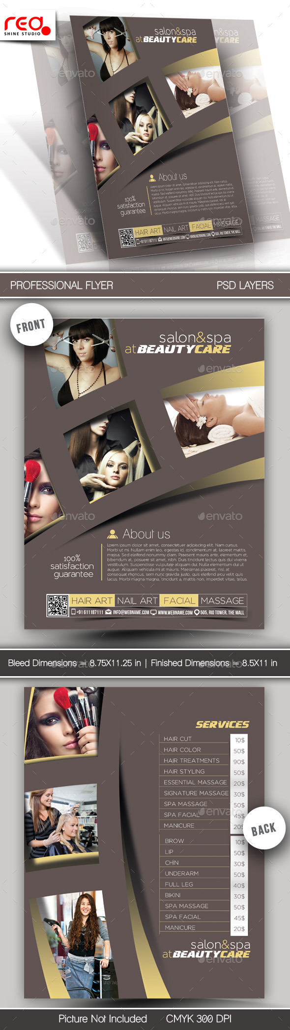 Salon & Spa Flyer & Poster Template  - Commerce Flyers