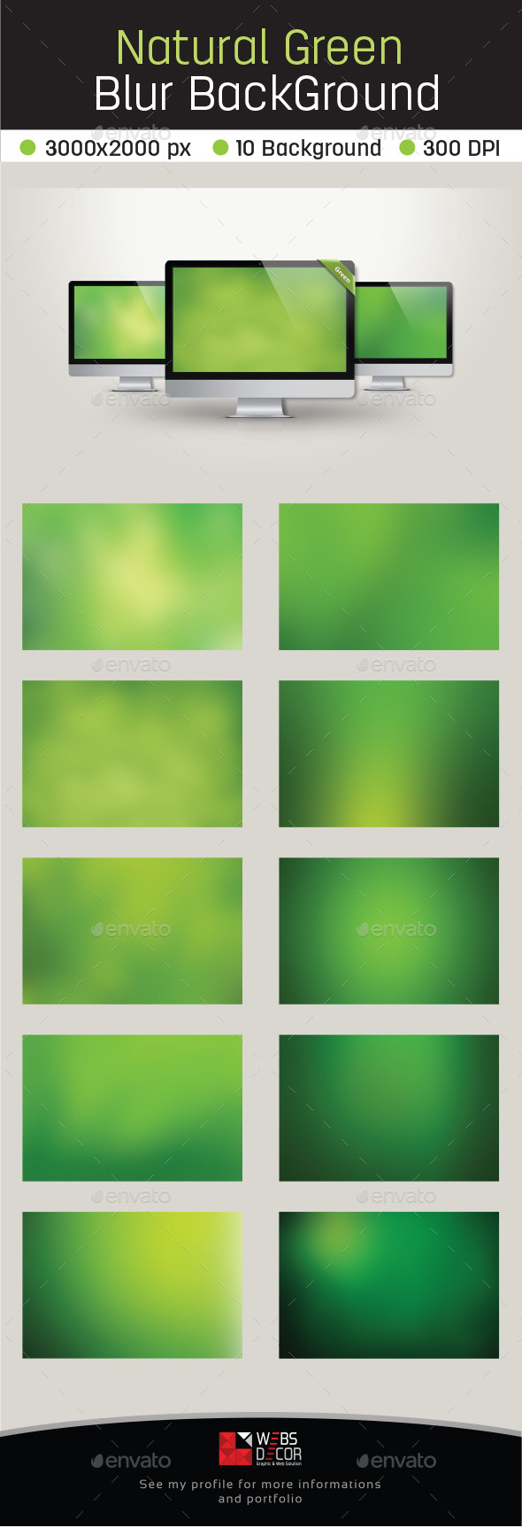 10 Natural Green Blur Background