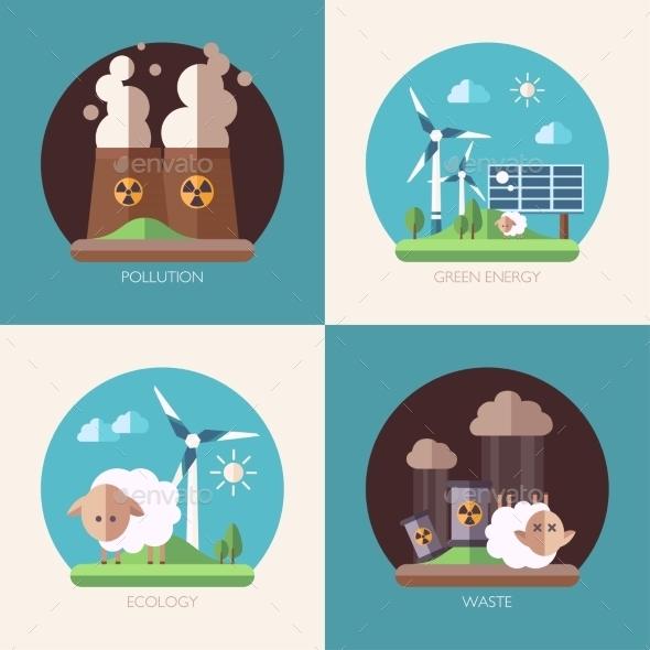 Modern Flat Design Conceptual Ecological - Nature Conceptual