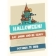Halloween Line Flat Design Modern Poster - GraphicRiver Item for Sale
