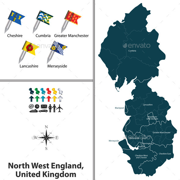 North West England, United Kingdom - Travel Conceptual