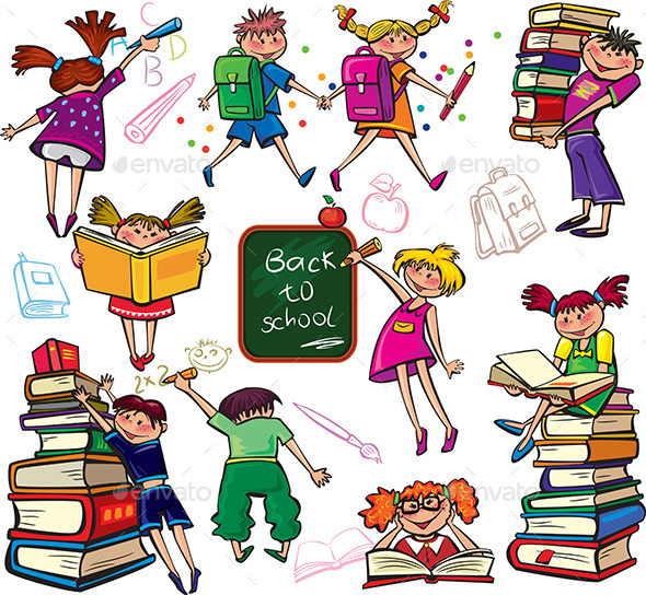 Back to School - People Characters