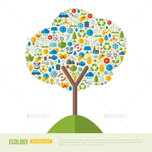 Eco Friendly Green Energy Concept Vector