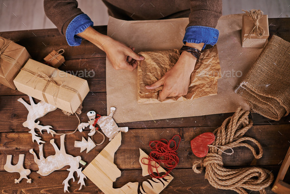 Wrapping presents - Stock Photo - Images