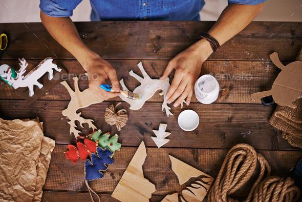 Christmas creativity - Stock Photo - Images