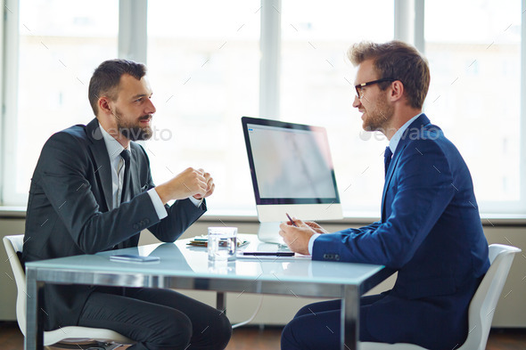 Business talk - Stock Photo - Images