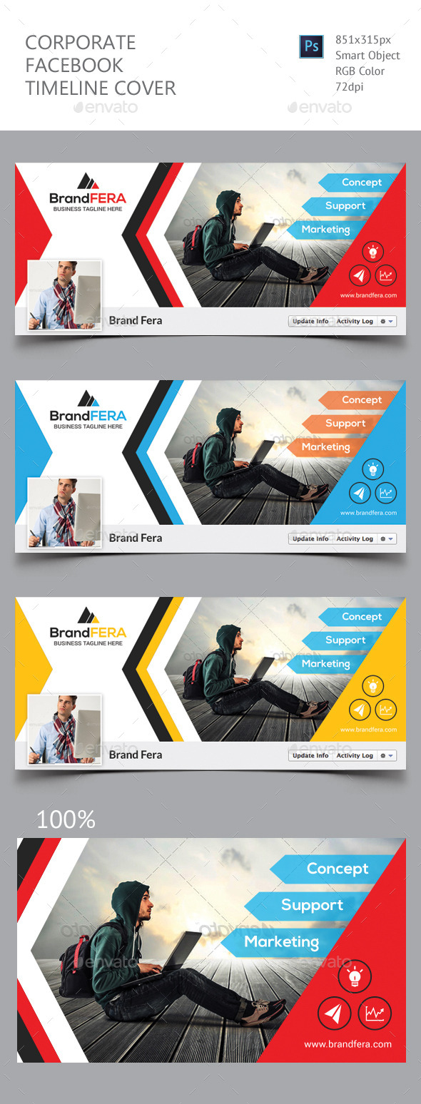 Corporate facebook timeline graphics designs templates flashek Choice Image