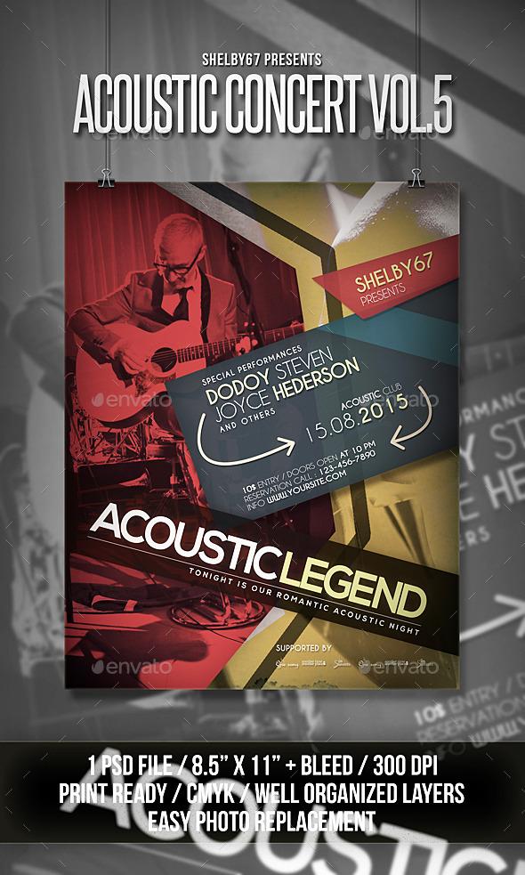 Acoustic Concert Flyer Poster Vol 5