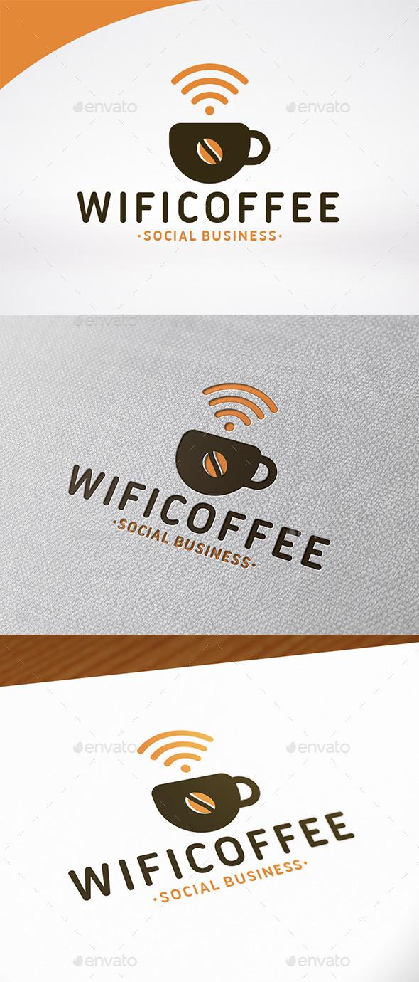 Wifi Coffee Logo Template - Food Logo Templates