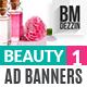 Beauty Banner Ads - GraphicRiver Item for Sale