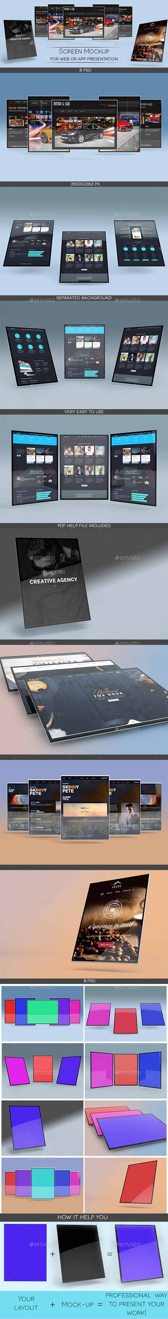Screen Mockup - Displays Product Mock-Ups