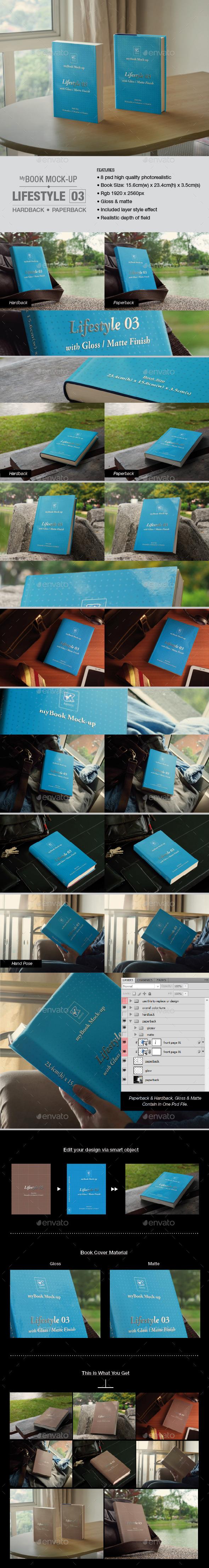 Lifestyle 03 Mock-up - Books Print