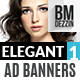 Elegant Promotion Web Ad Banners - GraphicRiver Item for Sale