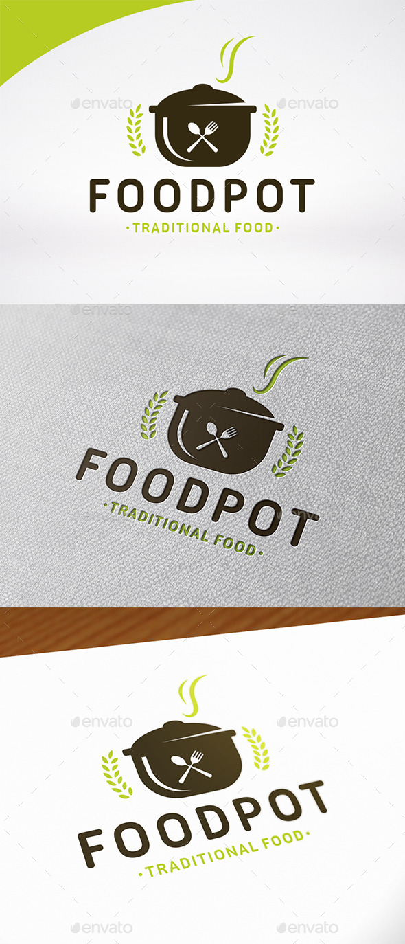 Food Pot Logo Template - Food Logo Templates