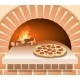 Vector Italian Pizza With Tomato, Sausage - GraphicRiver Item for Sale