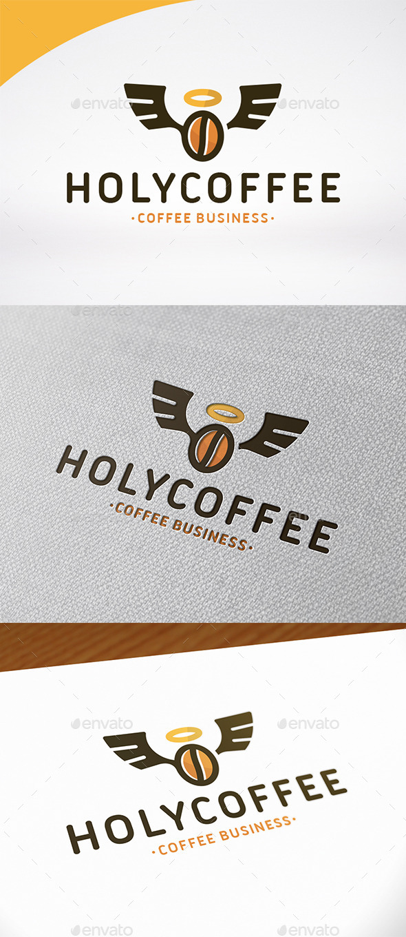 Holy Coffee Logo Template - Food Logo Templates