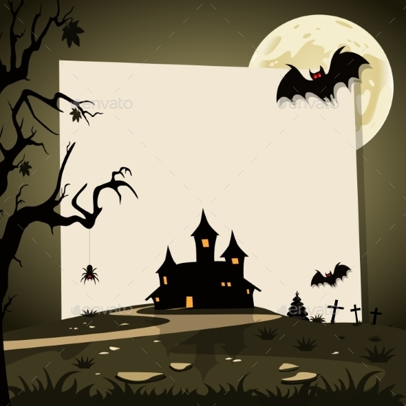 Halloween Background With Autumn Landscape - Halloween Seasons/Holidays