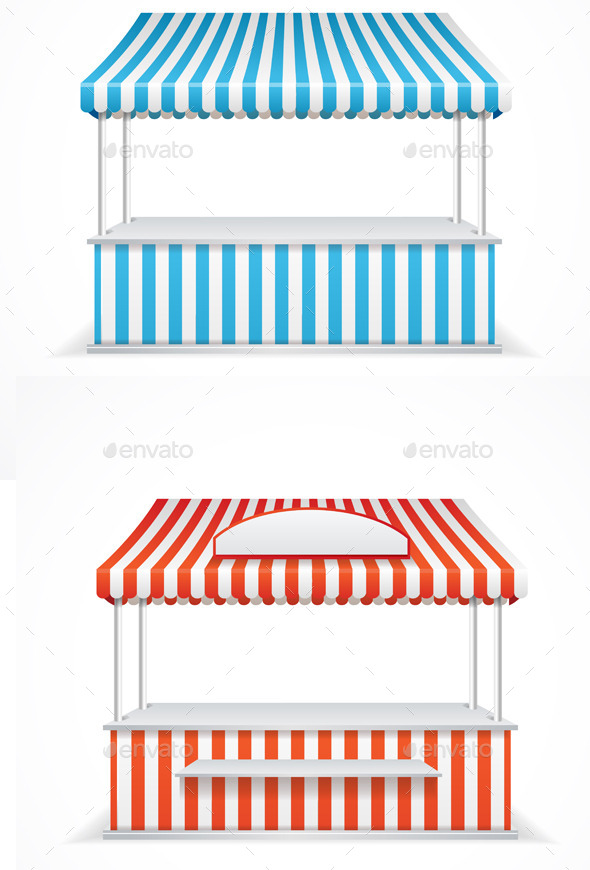 Market Stall. Vector - Objects Vectors
