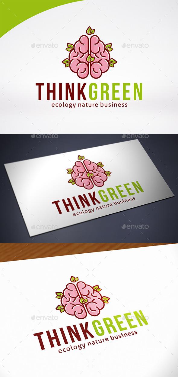 Think Green Logo Template - Nature Logo Templates
