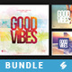 Good Vibes Trilogy - CD Cover Templates Bundle