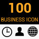 100 Flat Color Business Icons - GraphicRiver Item for Sale
