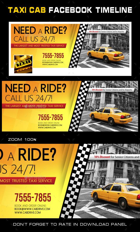 Taxi Cab Drive Facebook Timeline