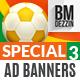 Soccer Banner Ads - GraphicRiver Item for Sale