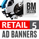 Retail 5 Web Banners