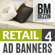 Retail Sale 4 Web Ad Banners