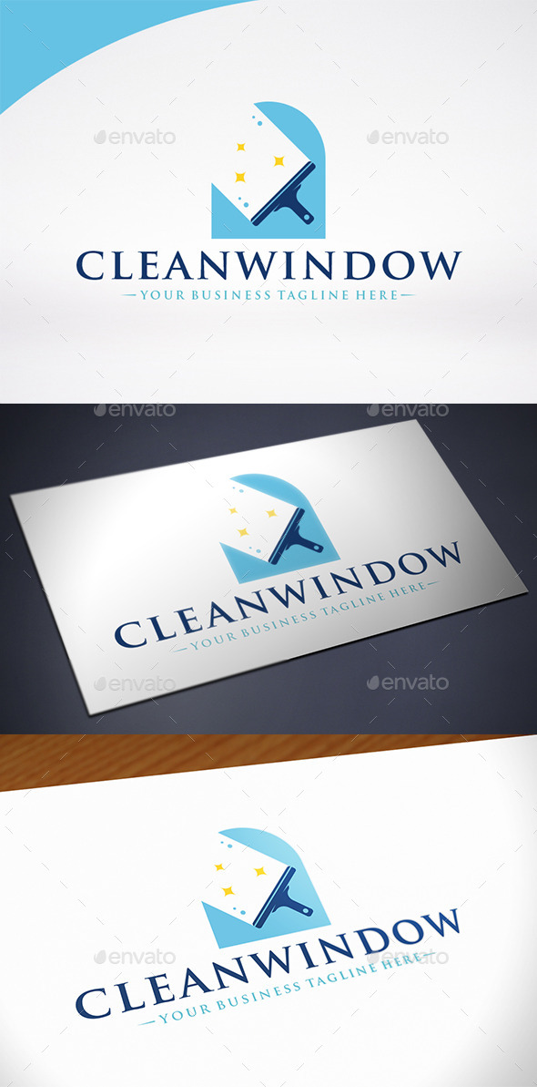 Clean Window Logo Template - Objects Logo Templates