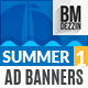 Summer Web Banner Ads - GraphicRiver Item for Sale