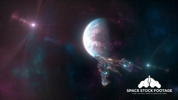 Spaceship Going to Warp 2