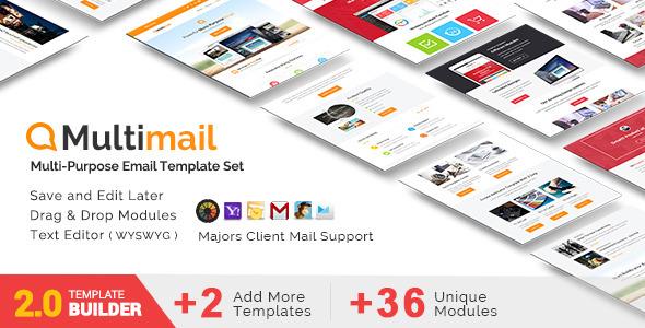 Multimail – Responsive Email Set + MailBuild Online