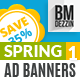 Spring Sale Promotion Web Ad Banners - GraphicRiver Item for Sale