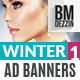 Winter Sale Ad Banners - GraphicRiver Item for Sale