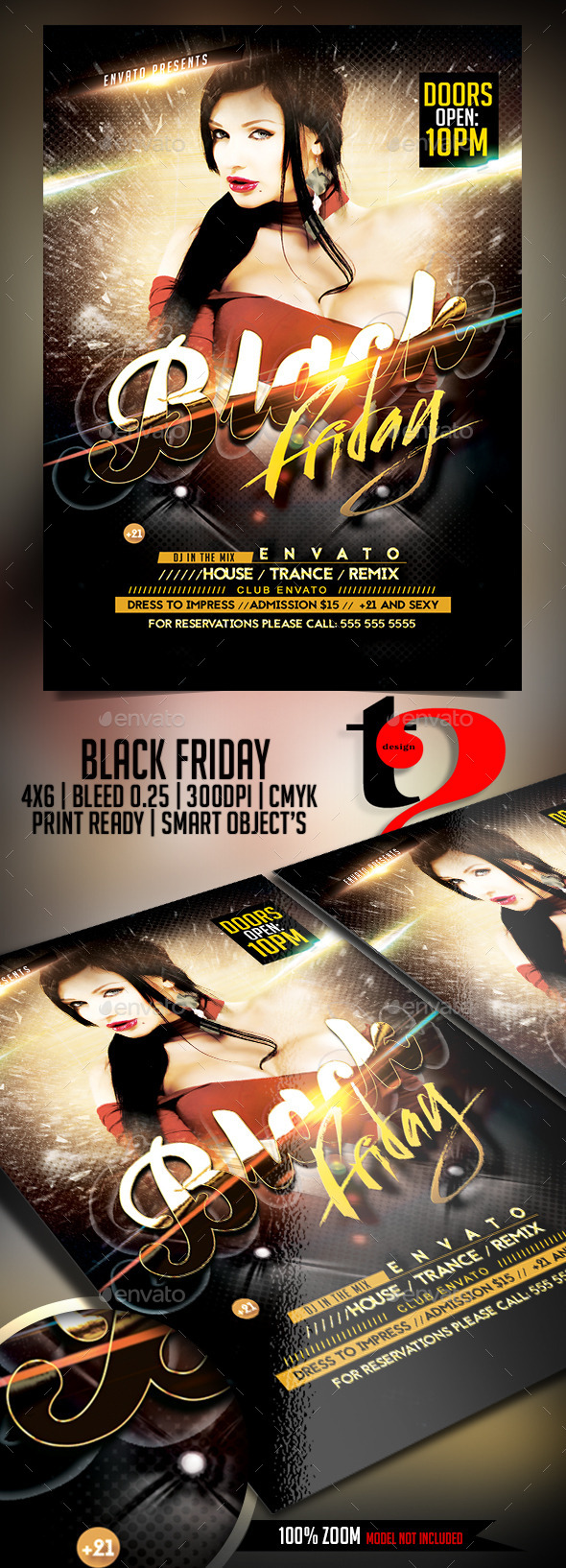Black Friday Flyer Template - Clubs & Parties Events