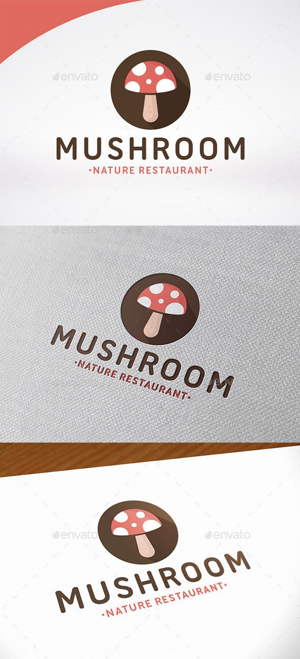 Food Mushroom Logo Template - Food Logo Templates
