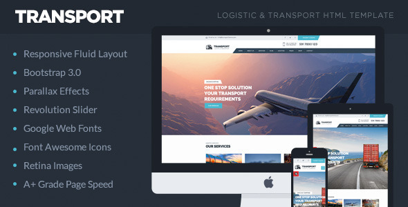 Transport - Logistic,Transportation & Warehouse HTML5 Template